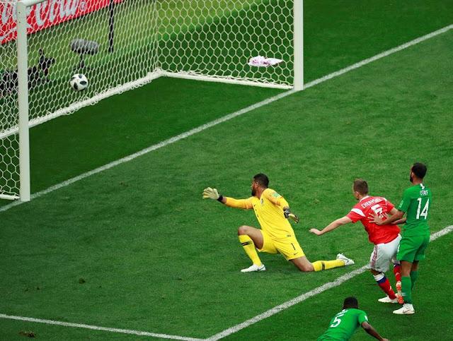 Cheryshev deixou um adversário no chão antes de fazer um belo gol - Créditos: EFE/José Méndez