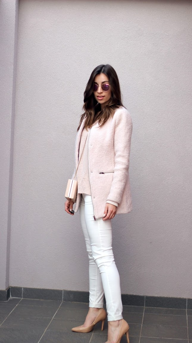 pink spring fashion outfit