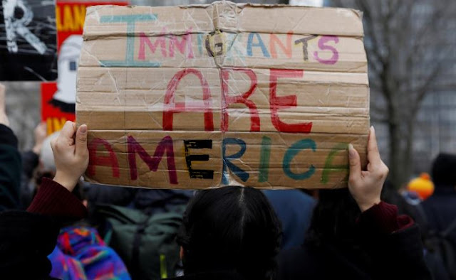 US immigrants protest
