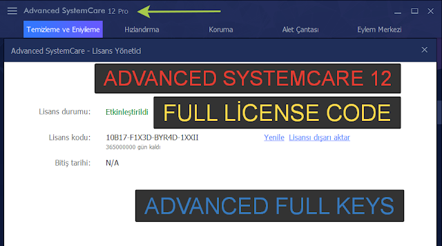 advanced systemcare 9 key 2018