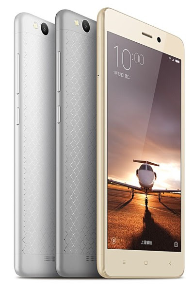 Xiaomi Redmi 3 with Snapdragon 616 for RMB 699 ($105)