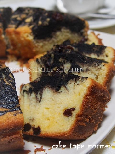resep marble cake tape kismis