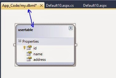 Add database table into dbml file