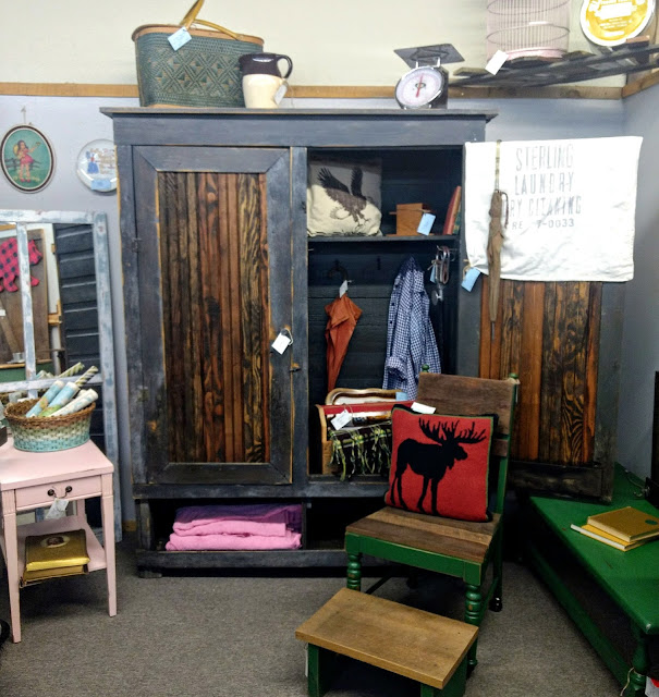 primitive cupboard with lots of storage