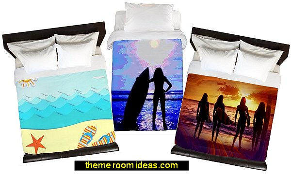 surfer girl bedding beach bedding surfing girls bedding ocean bedding