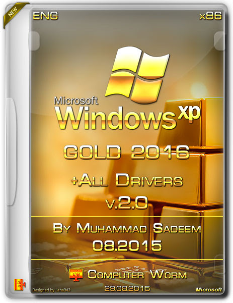 Windows XP Gold Edition SP3 November 2016 With Drivers