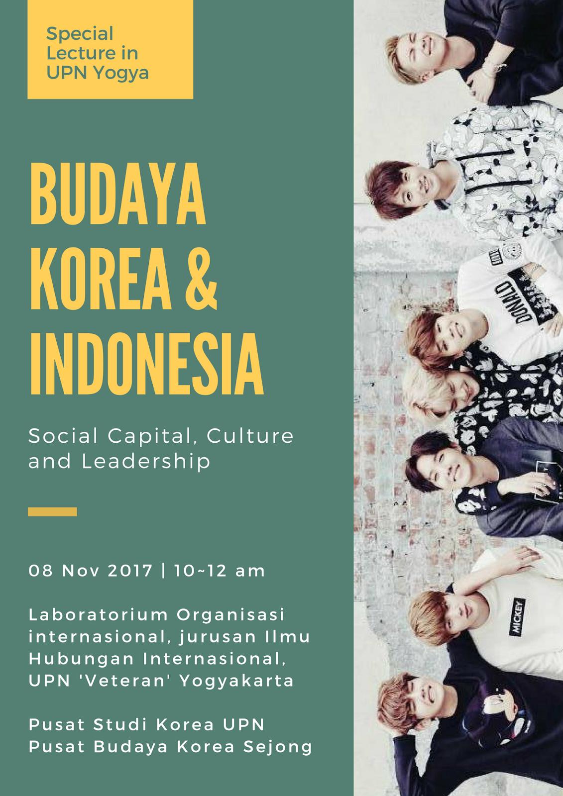 KCC Sejong dan Puskor UPN Membuka Open Lecture Budaya Korea dan Indonesia di UPN