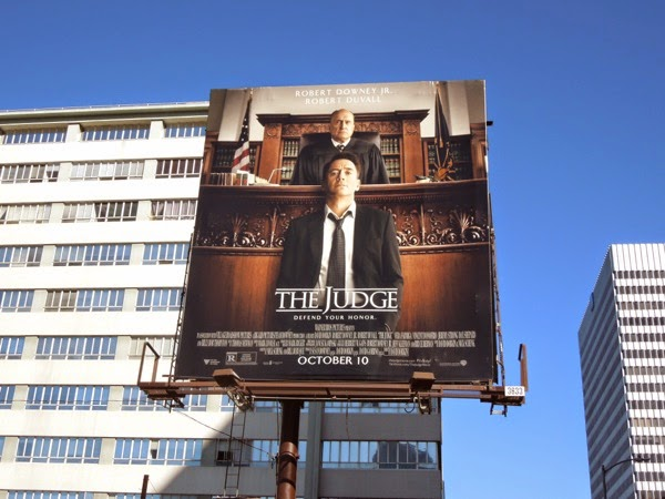 The Judge movie billboard