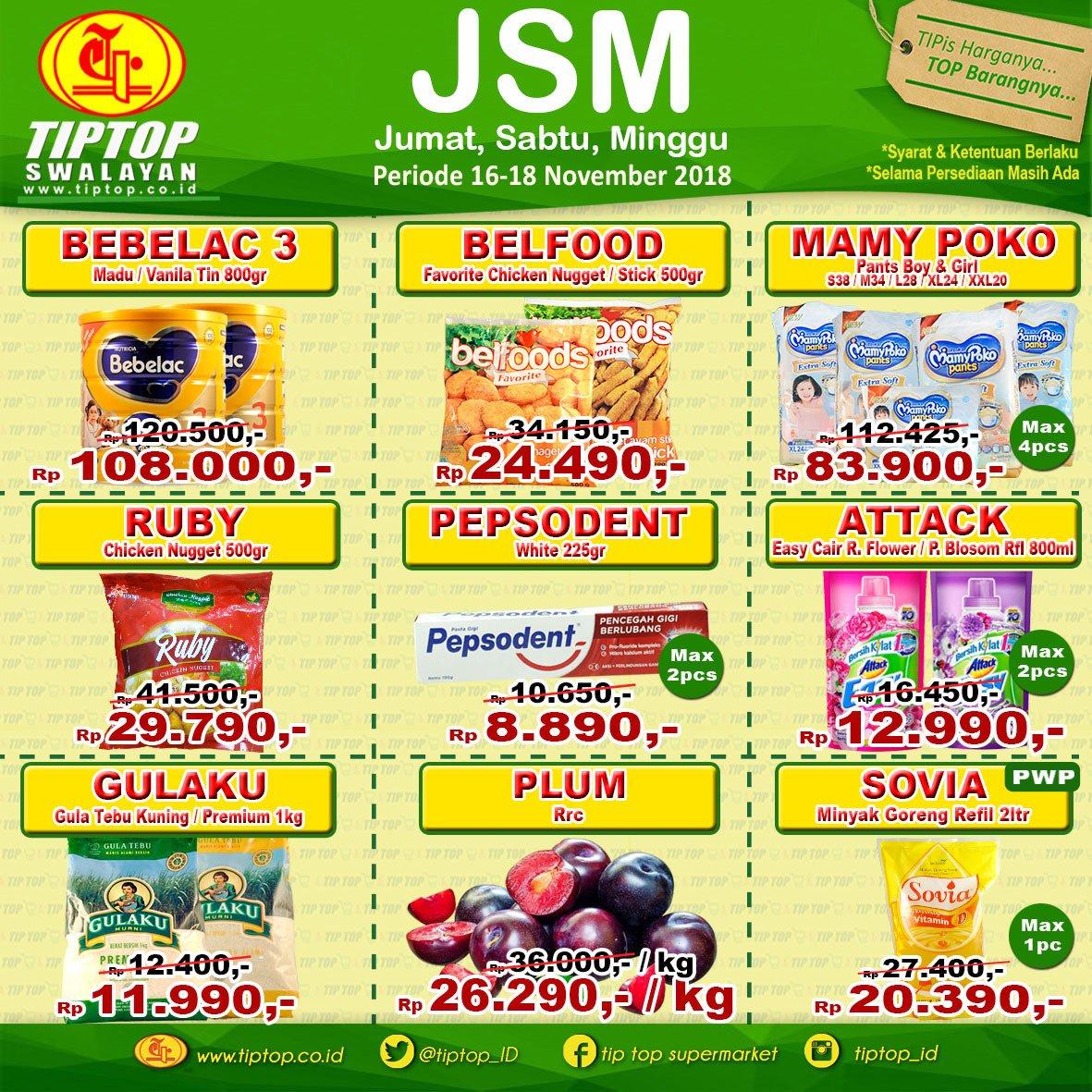 TipTop - Promo Katalog JSM Periode 16 - 18 November 2018