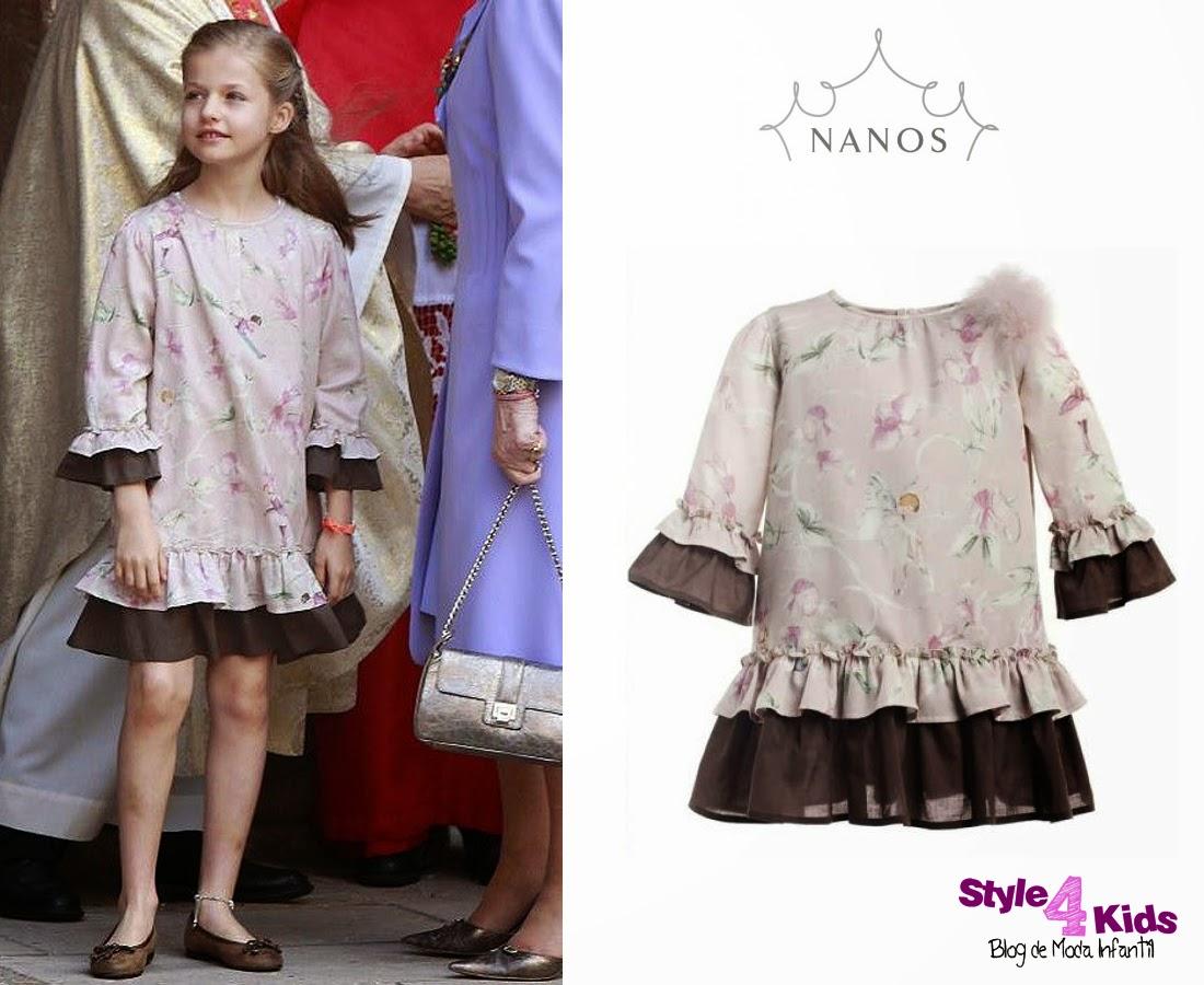 42ca21295 La infanta Leonor lucía un vestido de la colección otoño invierno 2013 2014  de Nanos.