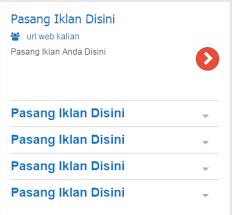 Cara Memasang Widget Iklan Teks Mirip Google AdSense