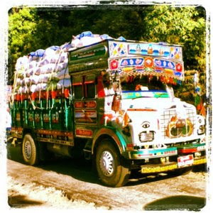 Photo of a loaded Bhutanese truck. Image source: Google