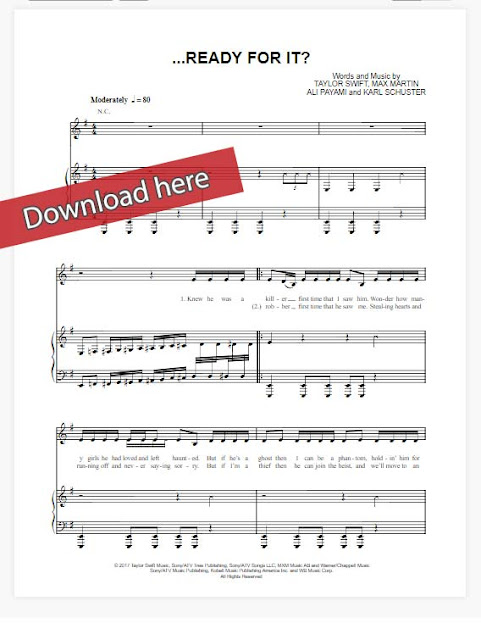 taylor swift, ready for it?, sheet music notes, piano notes, chords, download, pdf, klavier noten, how to play, tutorial, lesson