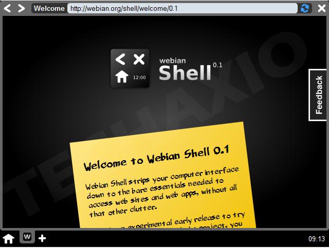 Webian Shell Screenshot