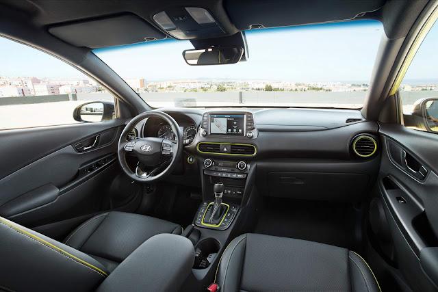 Novo Hyundai Kona 2018 - interior