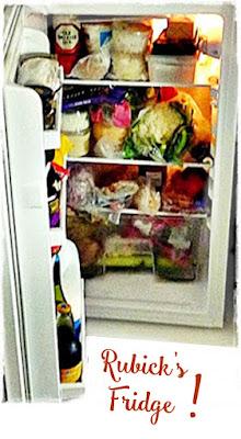 small crowded fridge