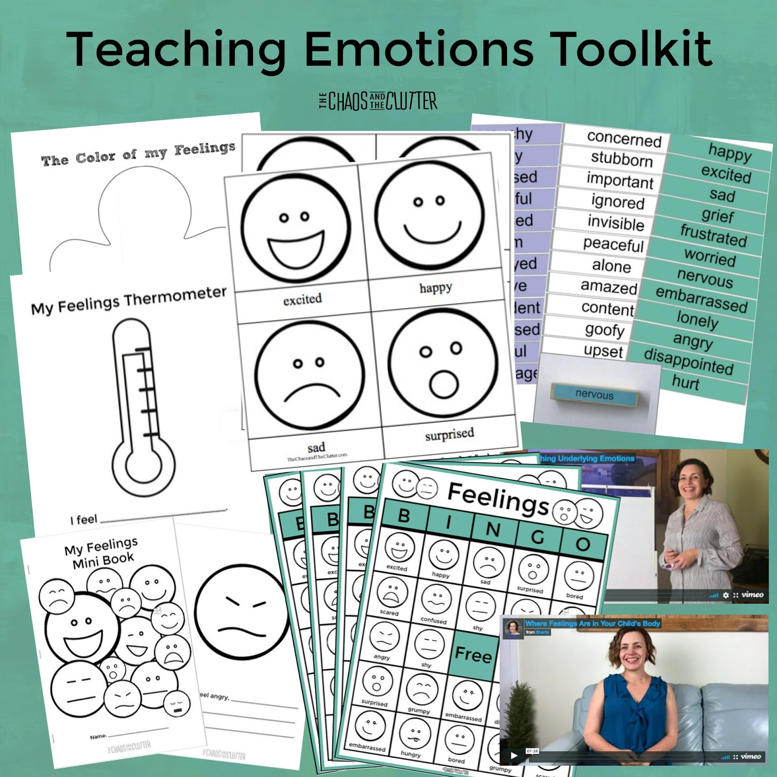 Teaching emotions toolkit for kids