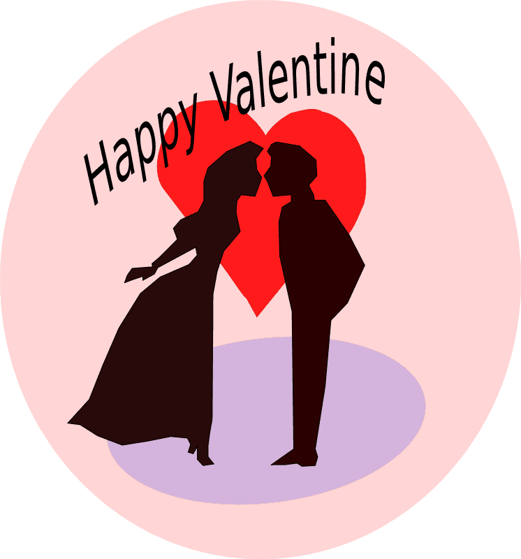 kissing-couple-valentines day clip art