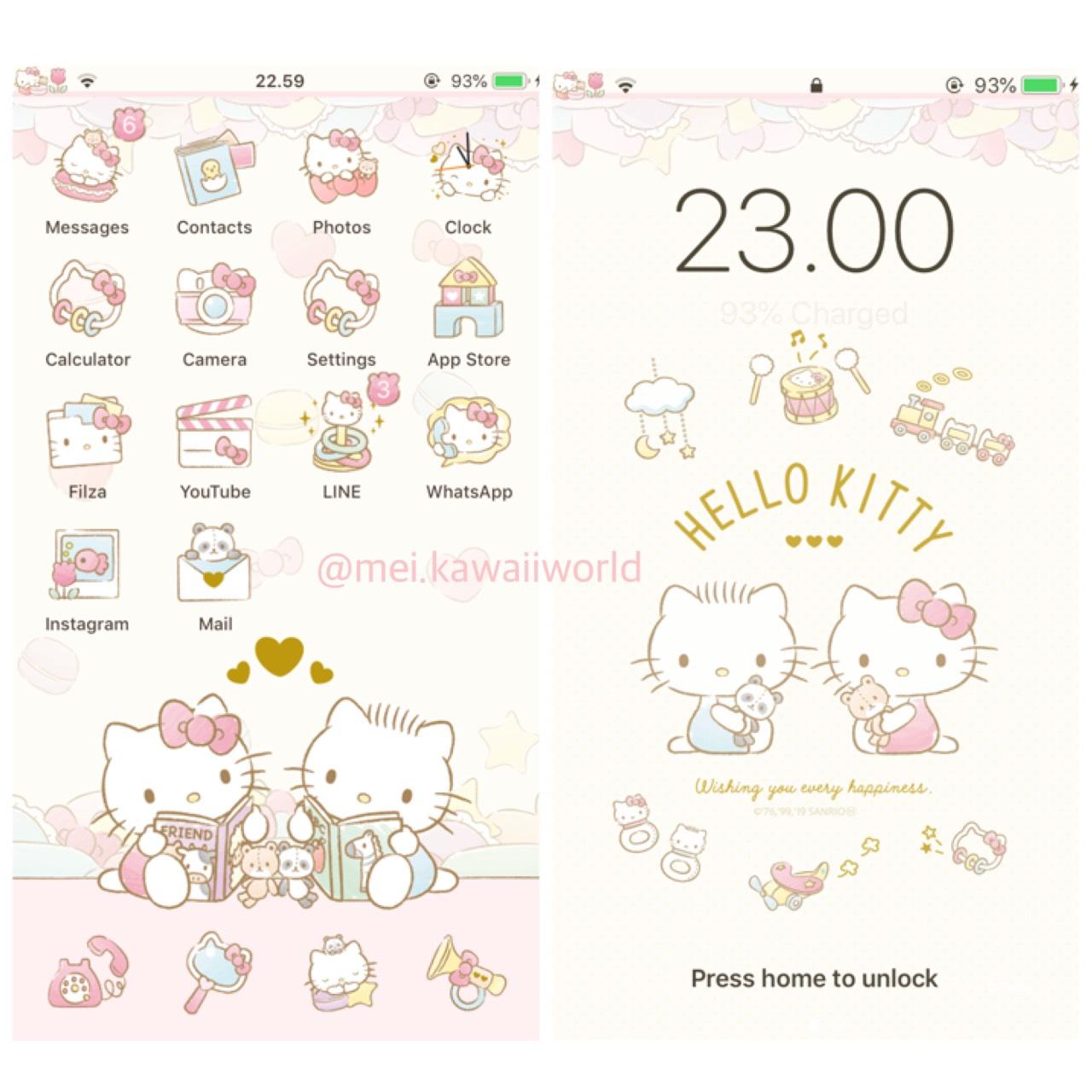 FREE Hello Kitty Baby Iphone Theme