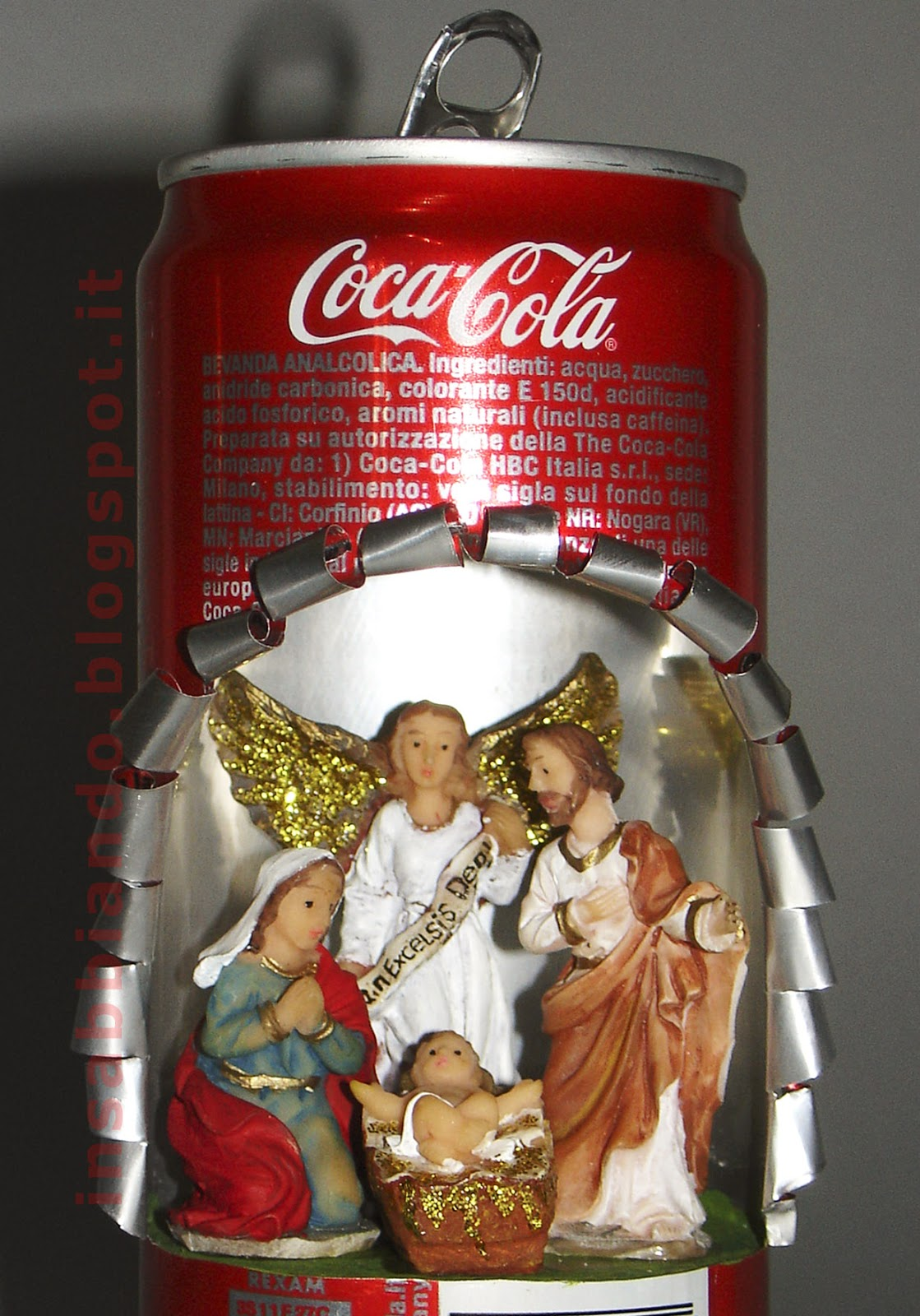 Insabbiando il presepe in lattina coca cola for Idee fai da te