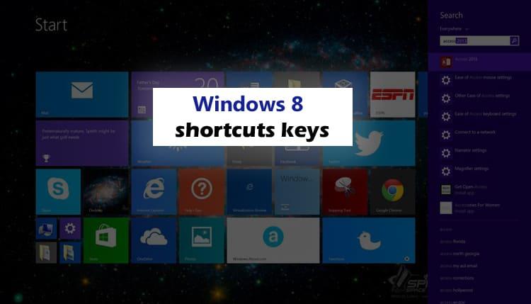 Windows 8 shortcuts keys क्या आप जानते है