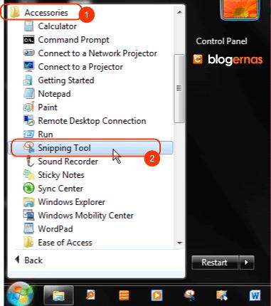 Cara Mengambil Potongan Gambar dg Screenshot
