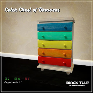 [Black Tulip] HG - The Color Chest of Drawers