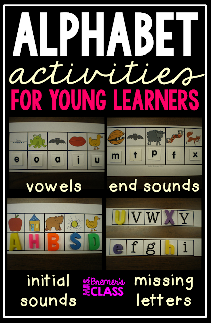 Alphabet Activities for Kindergarten- letter sounds, ABC order, ending sounds, and vowels!