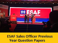 ESAF Sales Officer Previous Year Question Papers