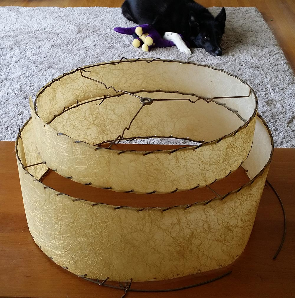 Mid mod minot how to ressurect a mid century fiberglass lamp shade mid century lamp shade in need of repair aloadofball Gallery