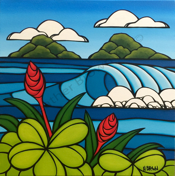 tropical art by heather brown