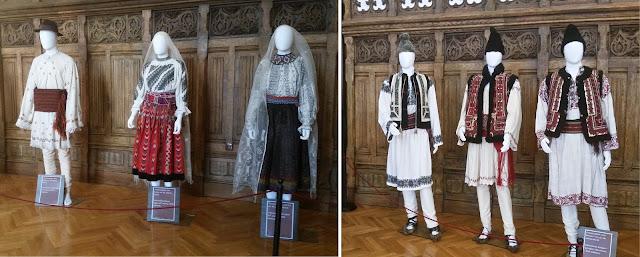תלבושות רומניות טיפוסיות במוזאון האתנוגרפי