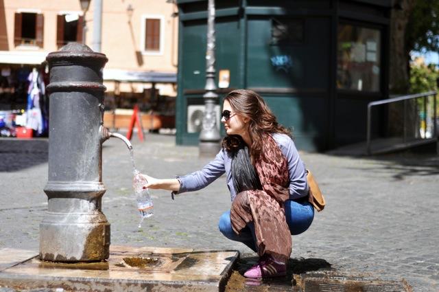 water fountain in Rome