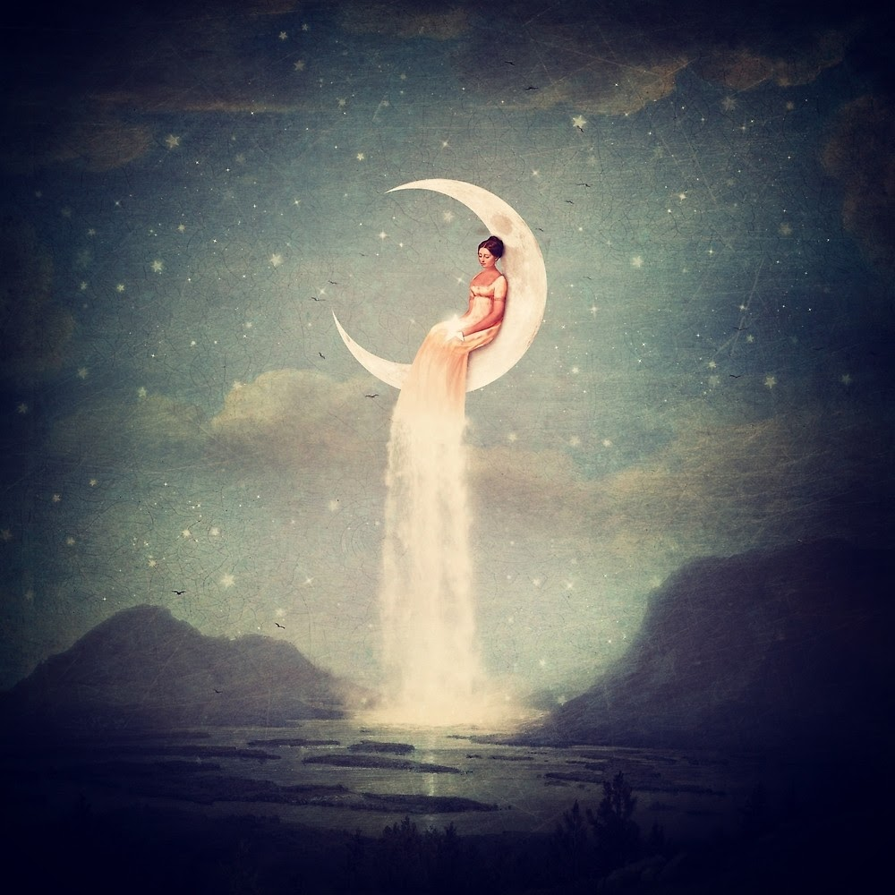 10-Moon-River-Lady-Paula-Belle-Flores-Photographic-Illustrations-of-Digital-Surrealism-www-designstack-co