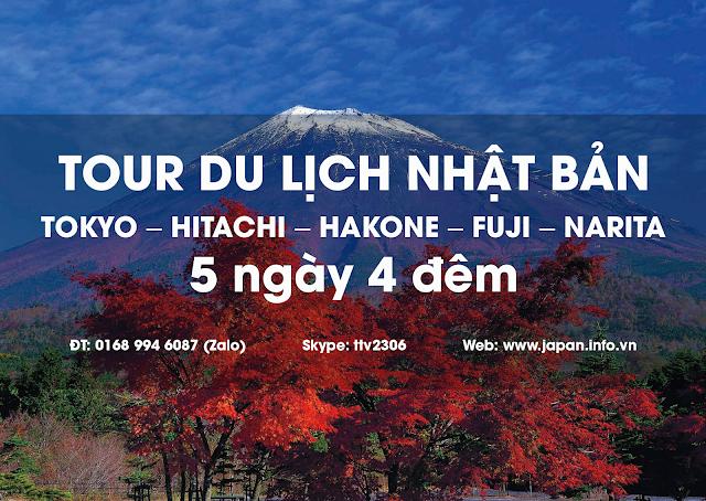 TOUR DU LỊCH NHẬT BẢN TOKYO – HITACHI – HAKONE – FUJI – NARITA