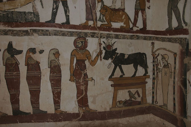 Paintings from the tomb of Petosiris at Muzawaka (XVII)