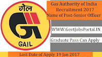 Gas Authority of India Recruitment 2017 For Senior Officer Post