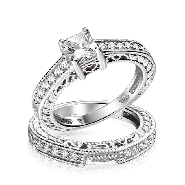 Cheap Silver Wedding Rings Sets