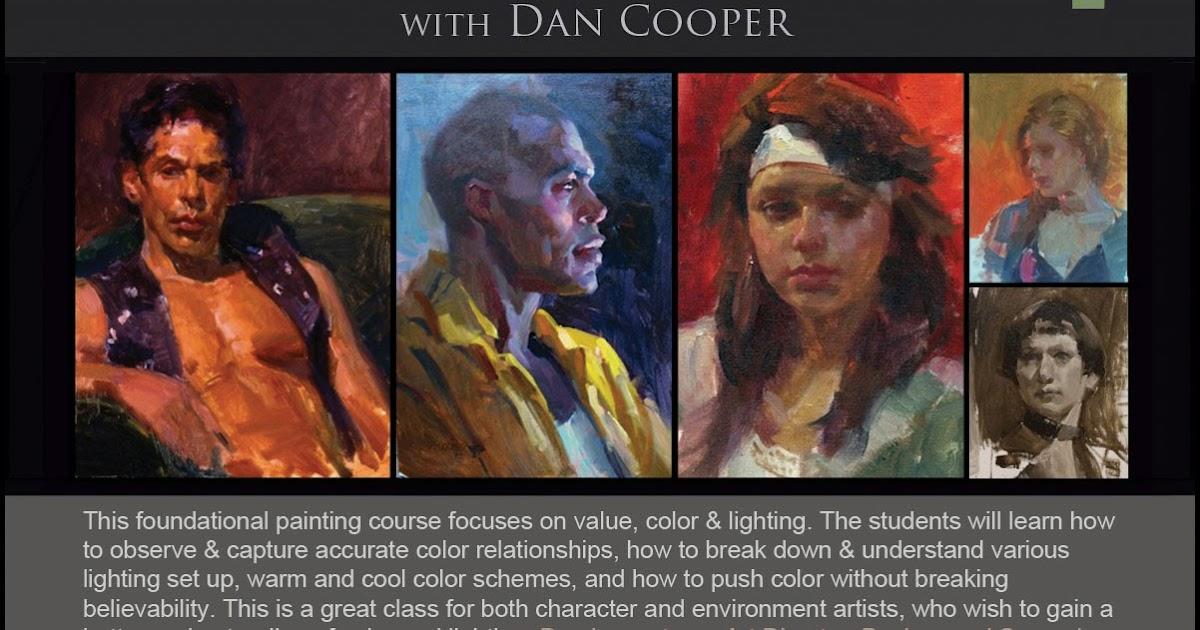 dan coopers blog splotch color and lighting figure painting class updated w in class demos breaking lighting set