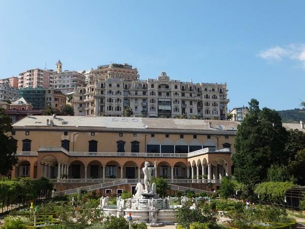 gênes genova villa dep principe jardins façade