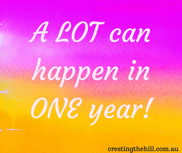 a LOT can happen in ONE year! My blog's first anniversary