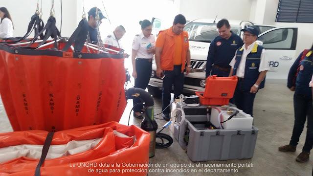 Gobernación de Norte de Santander dispone de equipo de almacenamiento portátil de agua contra incendios #RSY #OngCF #CFN