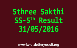 Sthree Sakthi SS 5 Lottery Result 31-5-2016
