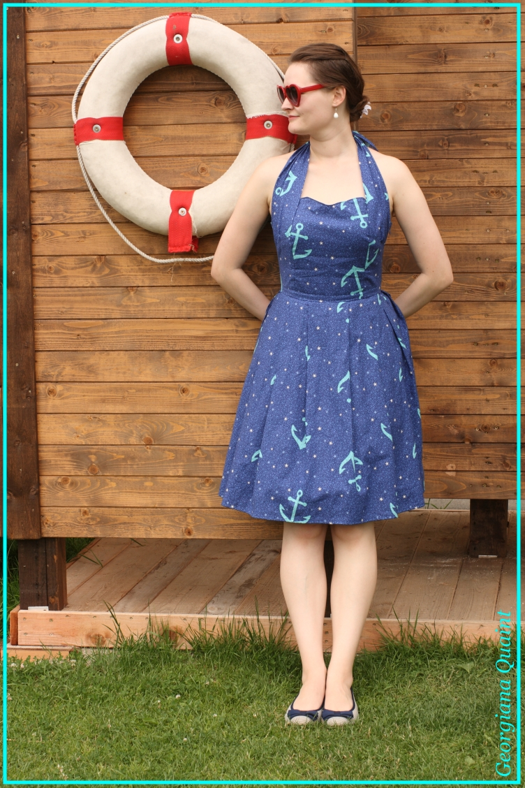 pin up, navy, 1950s, dressmaker, couturier, georgiana quaint, quaintrelle, shop, sale, buy, rockabilly, hot rod, psychobilly