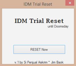 Si Penjual Aiskrim: Internet Download Manager Trial Reset