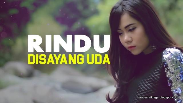 Lirik Rayola - Rindu Disayang Uda