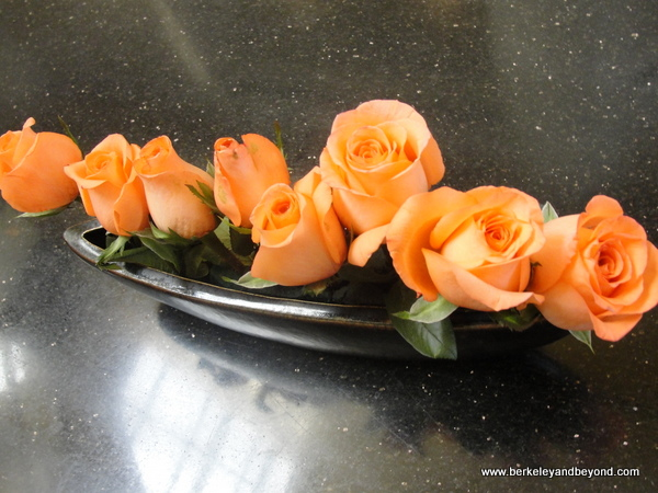 fresh roses at Golden Flower Hotel in Xi'an, China
