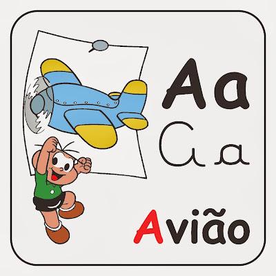 Alfabeto turma da mônica ilustrado