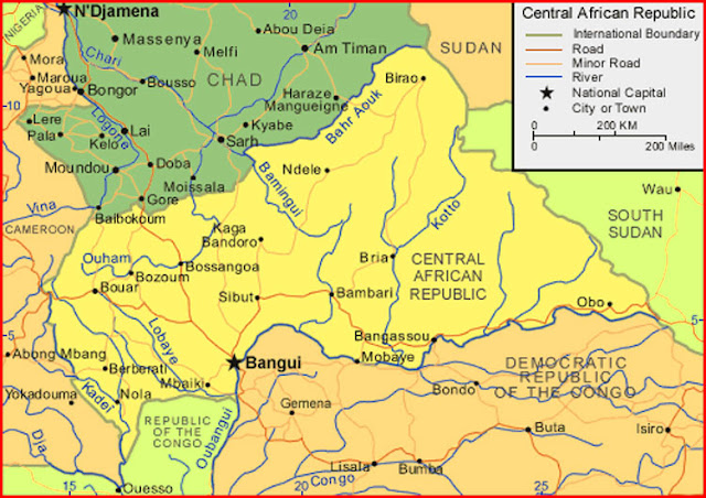 image: Central African Republic Map