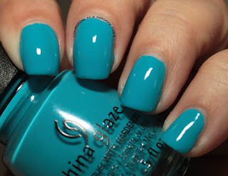 China Glaze Electric Nights DJ Blue My Mind